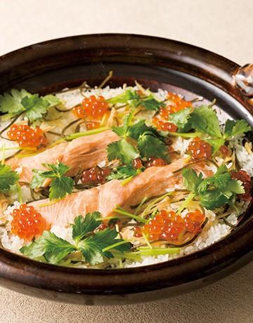 鮭の土鍋ごはん