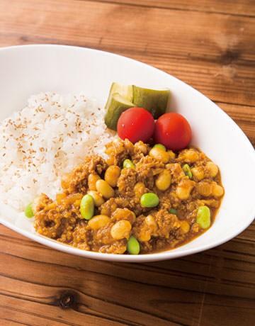 ひき肉と豆のキーマカレー