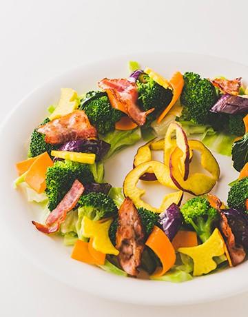 秋のリースサラダ