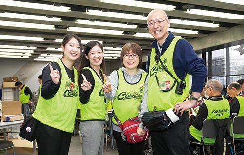 コンサドーレ ボランティア スタッフ CVSとして活躍する 石井ファミリー!