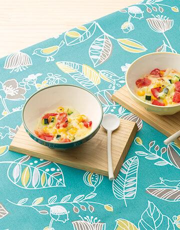 いろいろ夏野菜の軽い豆乳グラタン